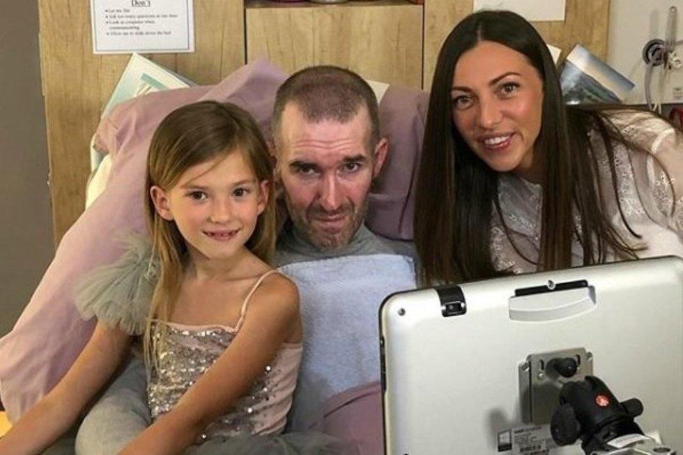 Fernando Ricksenas su žmona ir dukra (nuotr. Instagram)