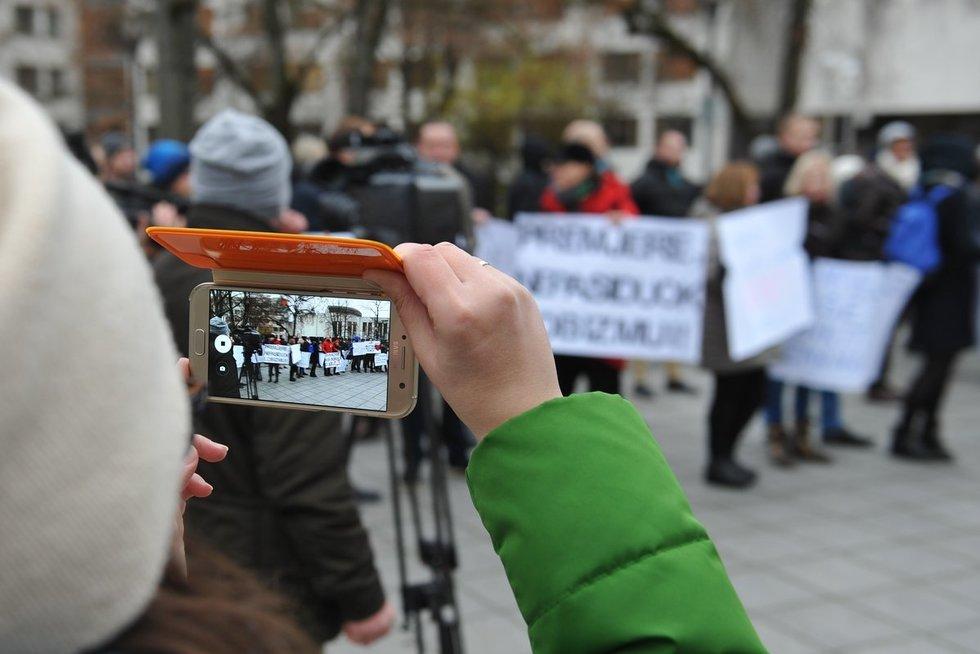 Mokytojų protestas (nuotr. Fotodiena.lt)
