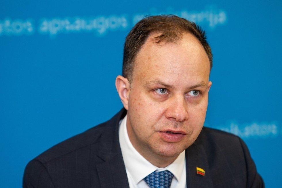 Spaudos konferencija Sveikatos apsaugos ministerijoje (nuotr. Paulius Peleckis/Fotobankas)