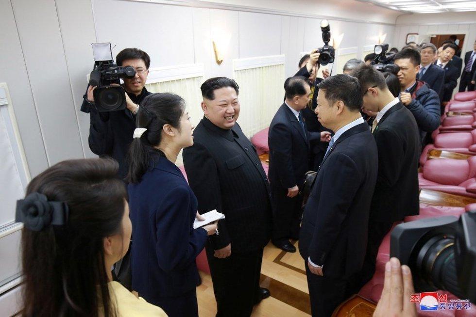 Kim Jong Unas (nuotr. SCANPIX)