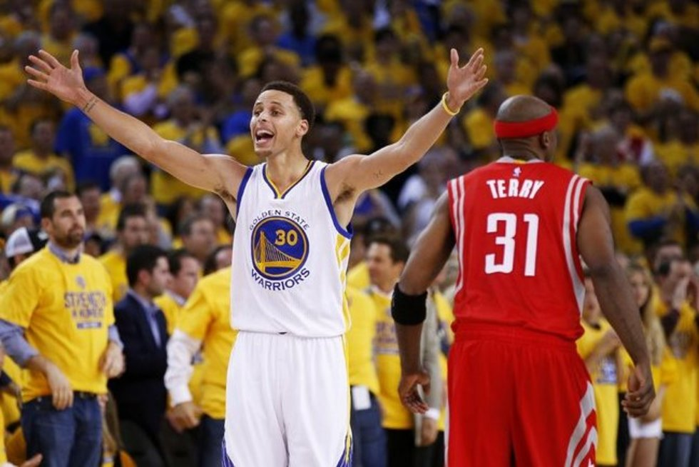 "NBA dvikova: ""Golden State Warriors"" – ""Rockets"" (nuotr. SCANPIX)"