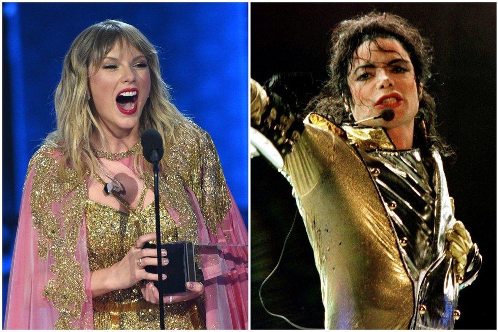 Taylor Swift ir Michael Jackson (nuotr. SCANPIX) tv3.lt fotomontažas