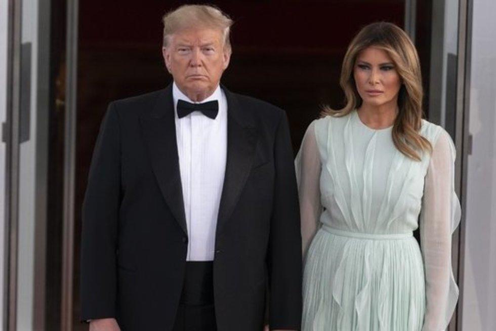 Donald Trump ir Melania (nuotr. Vida Press)