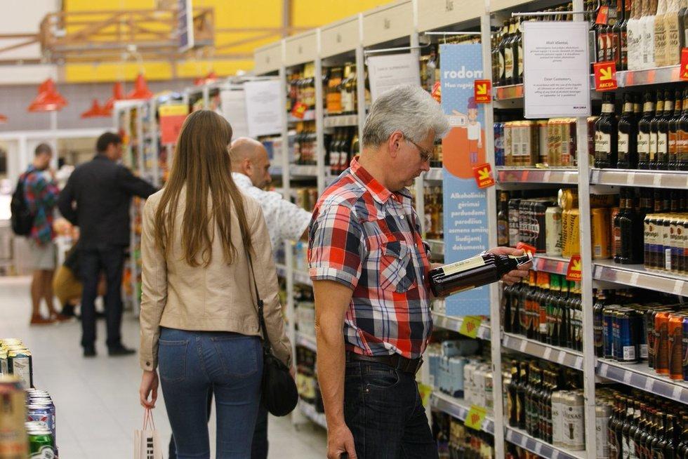 Gyventojų apsipirkimas prieš rugsėjo 1-ąją