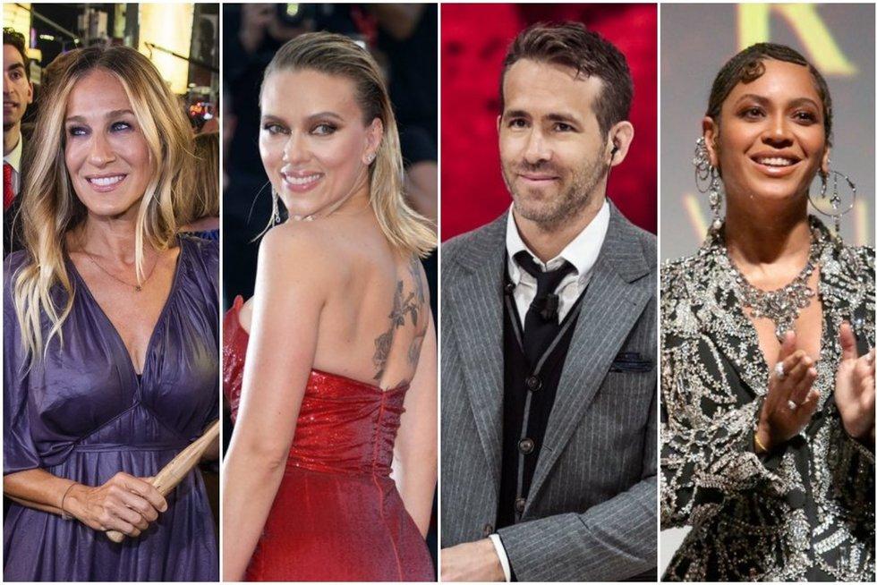 S. J. Parker, S. Johansson, R. Reynolds, Beyonce (tv3.lt fotomontažas)