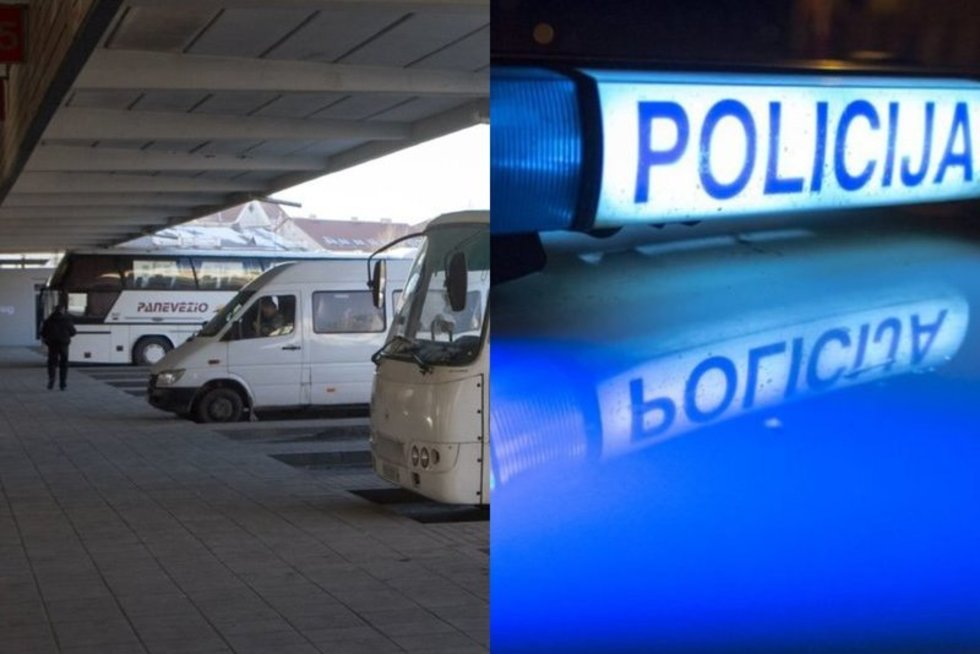 autobusas ir policija (nuotr. tv3.lt)