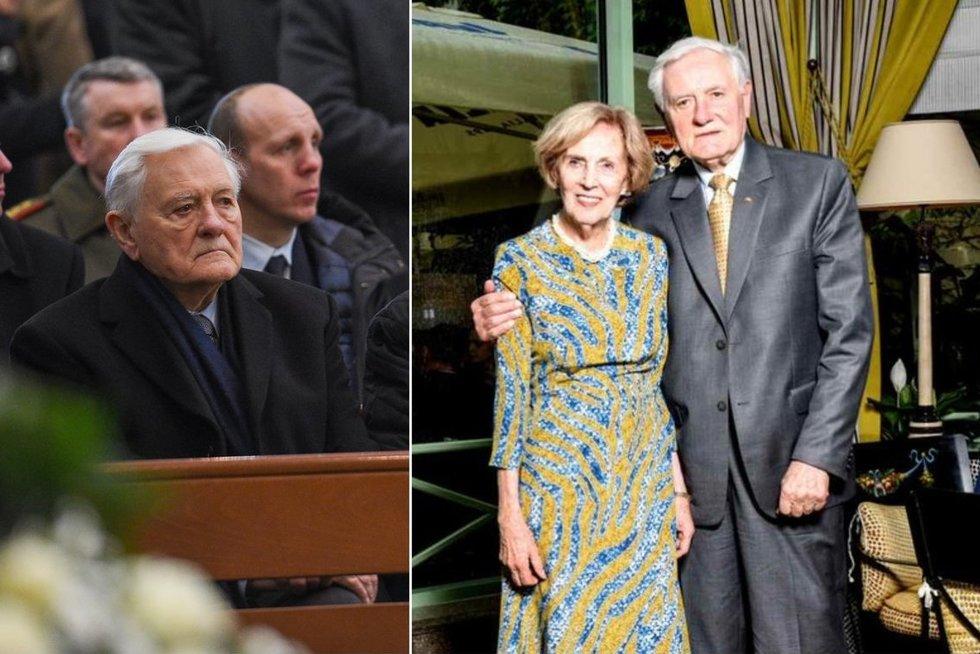 Sukilėlių perlaidojime Prezidentas V. Adamkus pasirodė vienas, be savo žmonos A. Adamkienės (nuotr. Fotodiena/Justino Auškelio)
