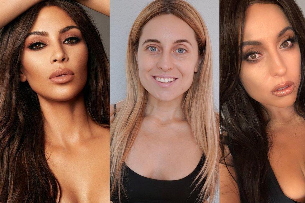Olesios Žuravliovos transformaciją į Kim Kardashian (nuotr. asm. archyvo)