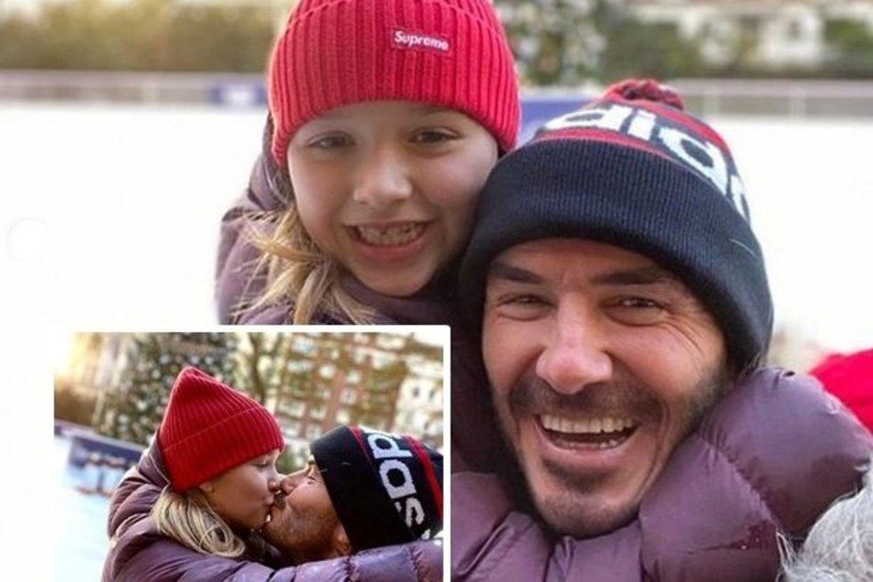Beckhamo nuotrauka supykdė gerbėjus: negalima taip elgtis su dukra (nuotr. Instagram)