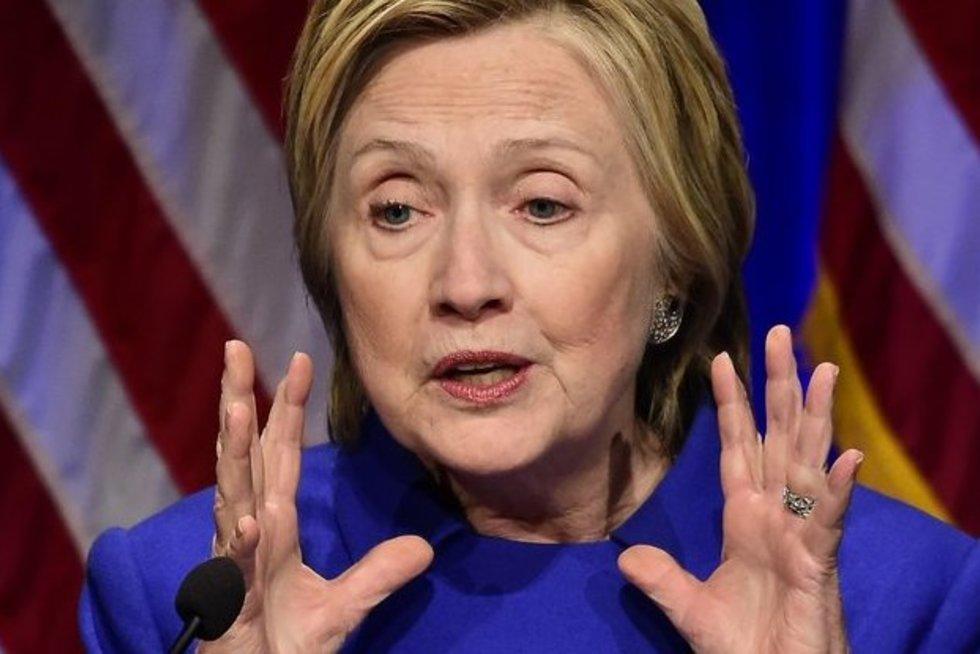 H. Clinton pasirodė visai be makiažo (nuotr. SCANPIX)