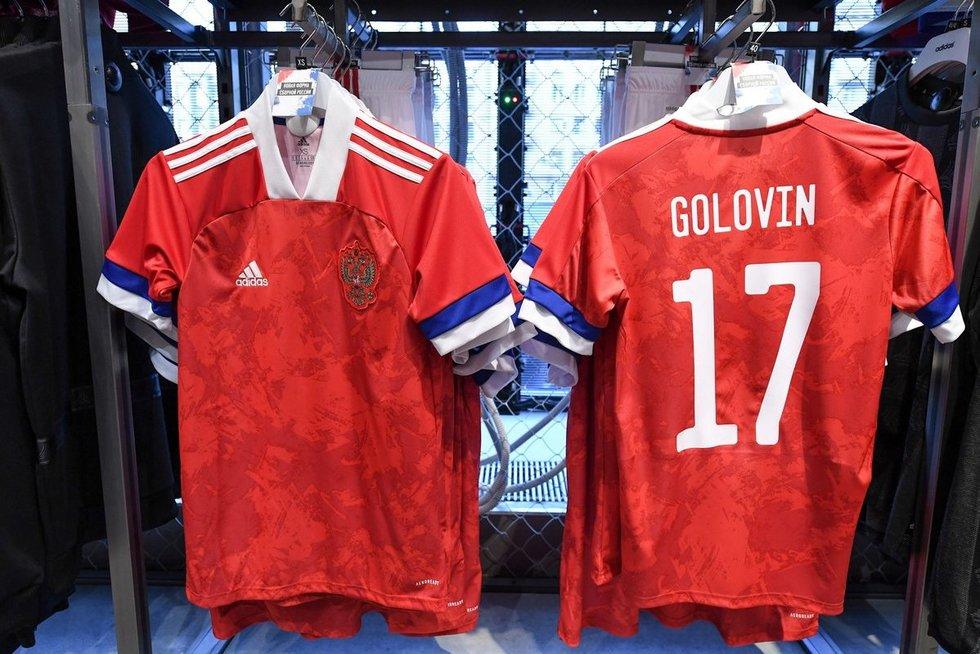 Naujosios Rusijos futbolo rinktinės aprangos (nuotr. SCANPIX)