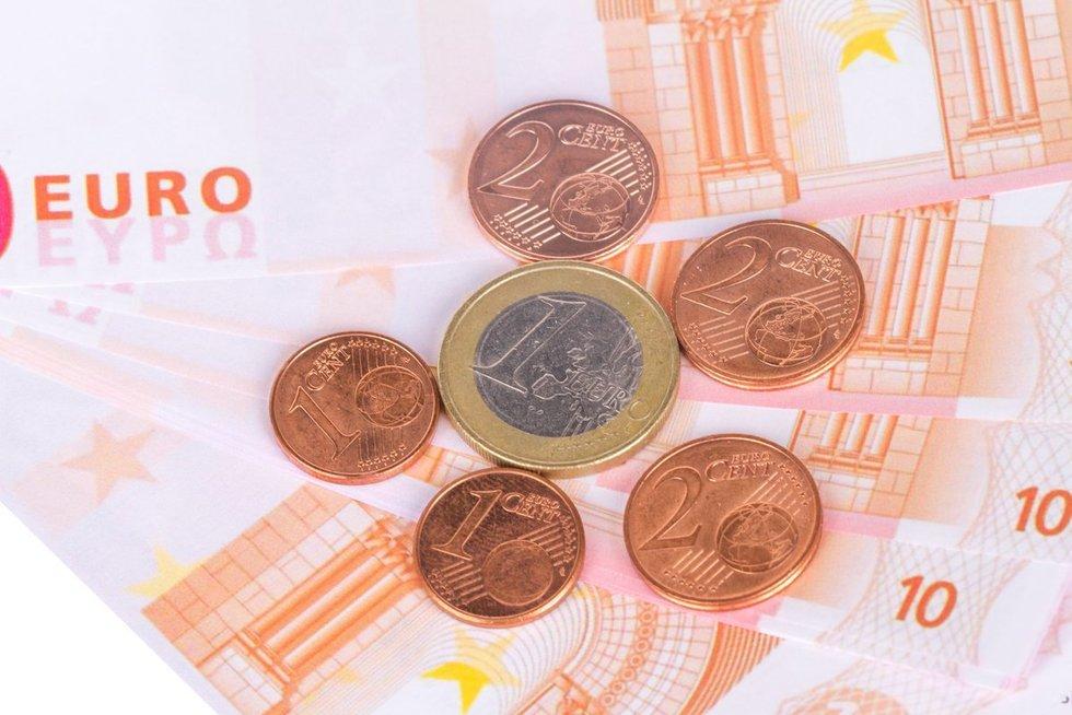 Euro centai (nuotr. 123rf.com)