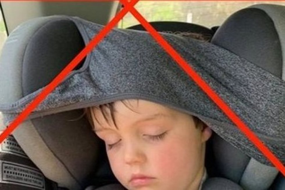 Vaikas automobilyje (nuotr. facebook.com)