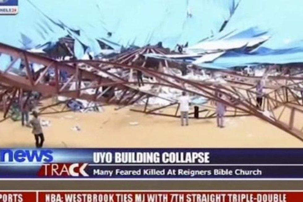 Nigerijoje įgriuvus bažnyčios stogui, žuvo 160 žmonių (nuotr. SCANPIX)