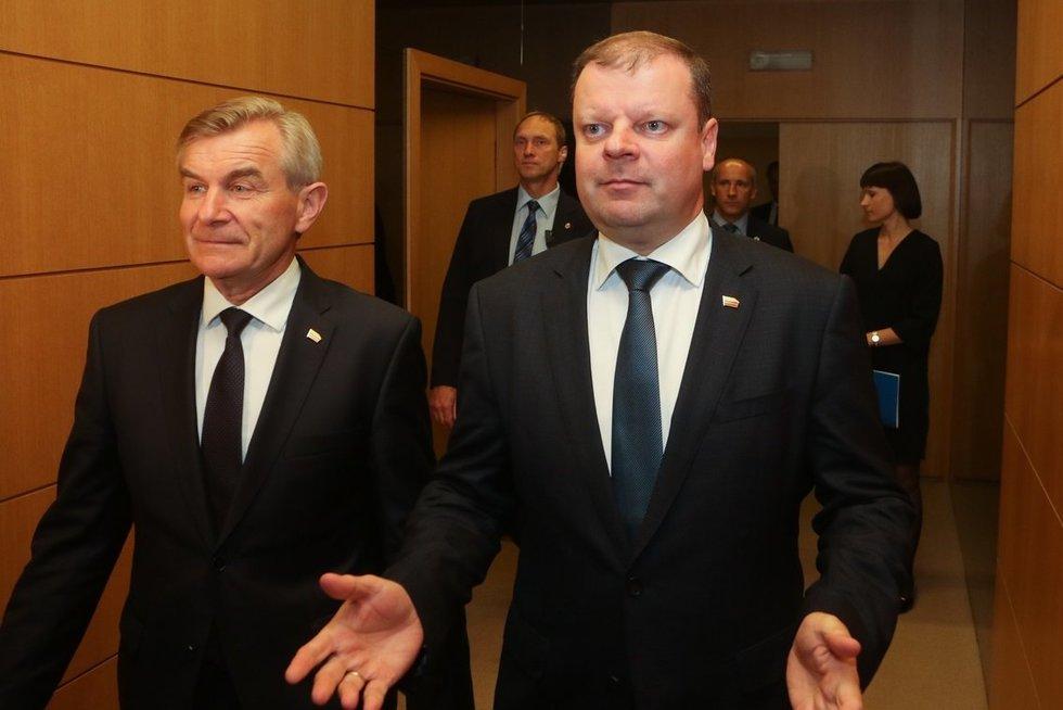 Viktoras Pranckietis, Saulius Skvernelis (nuotr. Tv3.lt/Ruslano Kondratjevo)