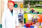 Su profesoriumi J. Raistenskiu susitinkame Santaros vaikų ligoninėje. (nuotr. Fotodiena/Justino Auškelio)
