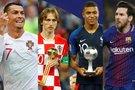 Cristiano Ronaldo, Luka Modričius, Kylianas Mbappe ir Lionelis Messi (tv3.lt fotomontažas)
