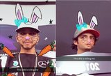 """Lewisas Hamiltonas šėlsta """"Snapchat"""" tinkle"""