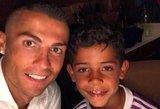Cristiano Ronaldo džiaugėsi ir po pralaimėjimo: man gimė du sūnūs