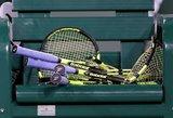 Ne juokais susinervino: tenisininkas sulaužė net keturias raketes
