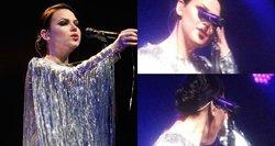 Atlikdama svarbią dainą, Justė Arlauskaitė scenoje nesulaikė ašarų