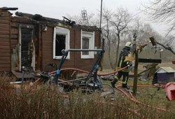 Sprogimas netoli Elektrėnų – sugriuvo namas, yra sužeistų