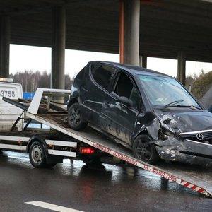 Susidūrimas Vilniaus rajone: į ligoninę išvežta moteris
