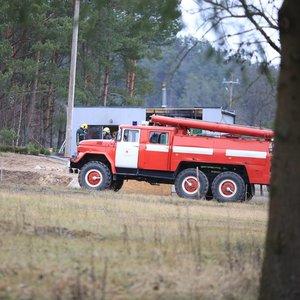 Gaisras Skvernelio kaimynystėje: netoli jo namų degė pirtis