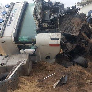 """Vilkiko avarija kelyje """"Via Baltica"""": net sunku patikėti, kaip vairuotojas liko sveikas"""