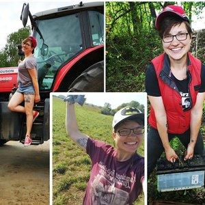 Rasos kūną puošia traktoriai: geriausiai jaučiasi būdama laukuose