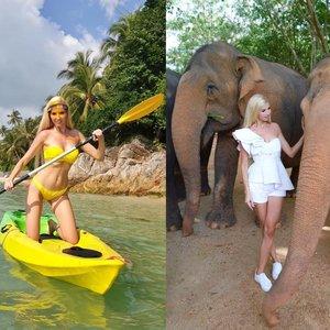 Stumbrienė pasileido į prabangias atostogas egzotiškoje saloje: akimirkos lyg iš pasakos
