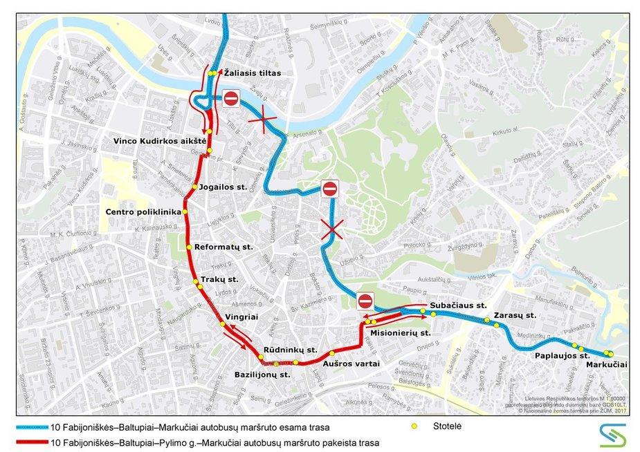 Vilniuje savaitgalį keisis eismo organizavimas (nuotr. Vilniaus miesto savivaldybės)
