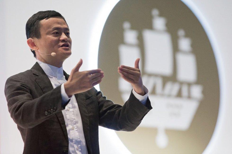 Jackas Ma, Alibaba grupės direktorių tarybos direktorius, pristato naują projektą