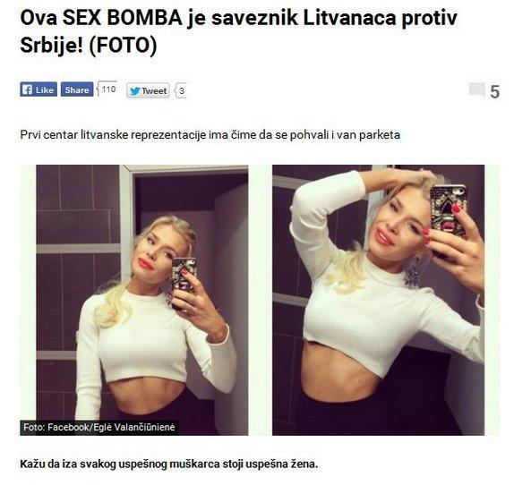 """Serbijos žiniasklaidos akiratyje atsidūrė Eglė Valančiūnienė: ji tikra sekso bomba (nuotr. asmeninio albumo (""""Facebook"""")"""