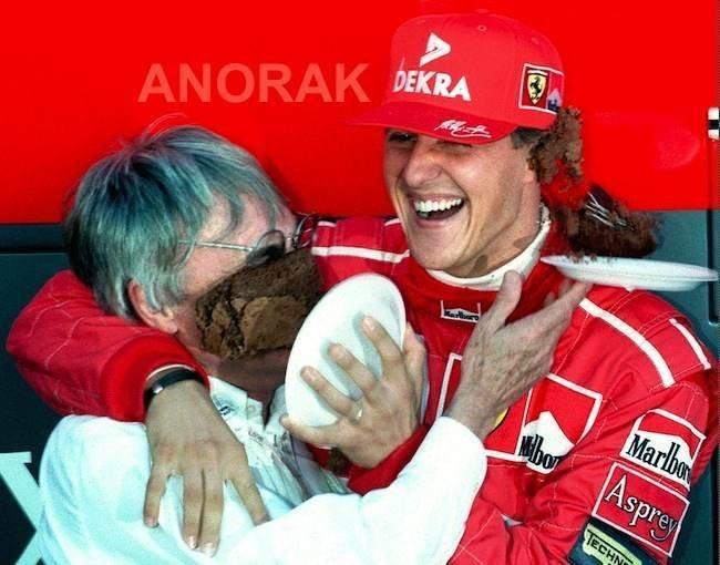 Michaelis Schumacheris ir Bernie Ecclestone'as (nuotr. SCANPIX)