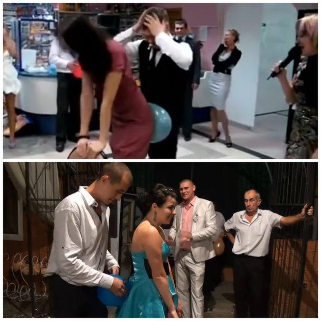 Rusiškų vestuvių ypatumai: žiūrint, nėra kur akių dėti iš gėdos (nuotr. YouTube)