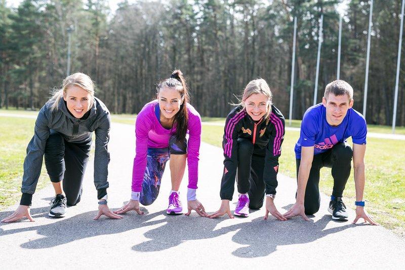 Profesionalūs bėgikai (nuotr. Organizatorių)