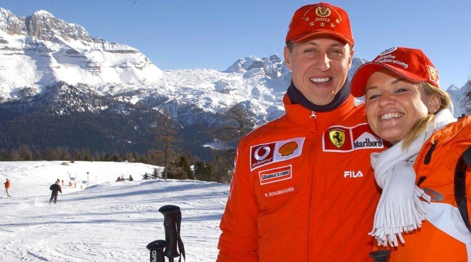 Michaelis Schumacherus ir žmona Corrina (nuotr. SCANPIX)