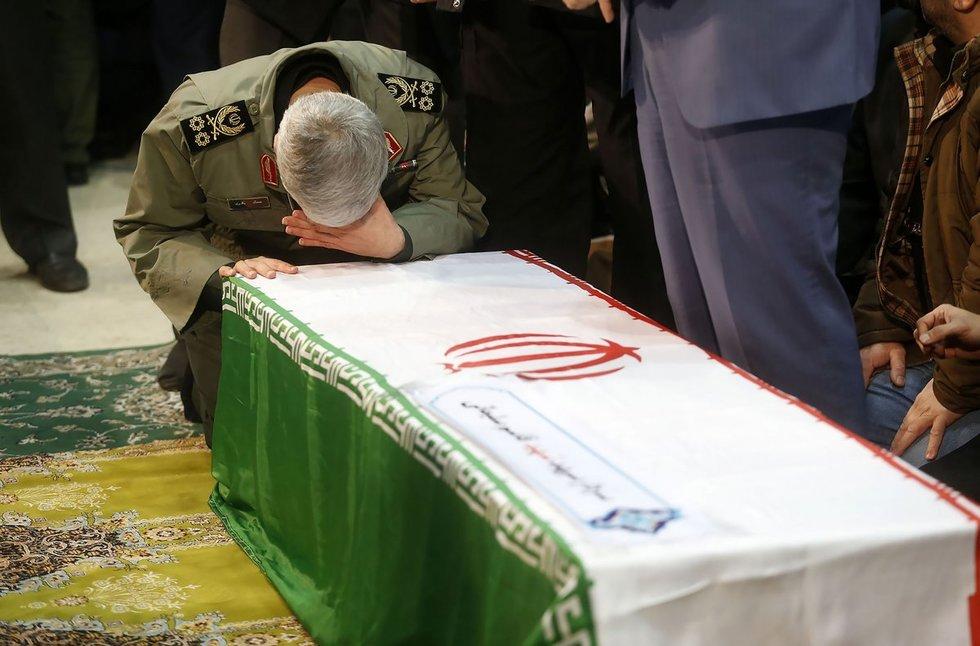 Soleimani laidotuvių ceremonija
