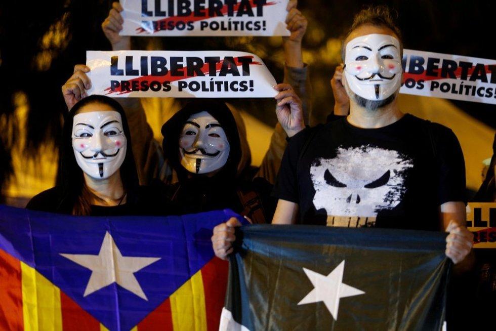 Katalonų separatistai (nuotr. SCANPIX)