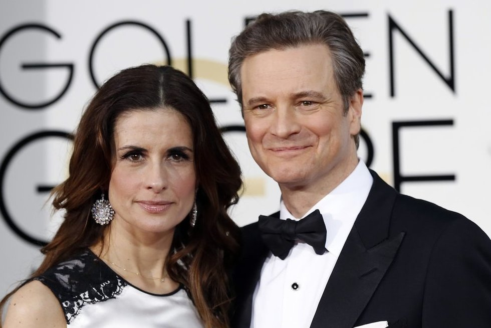 Colin Firth ir Livia Giuggioli (nuotr. SCANPIX)