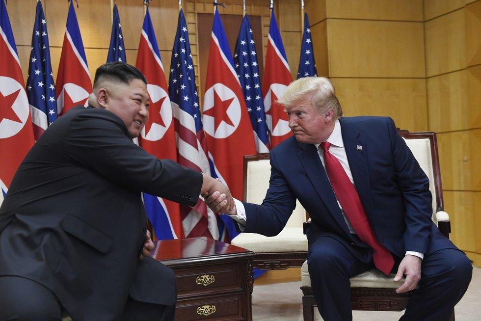 JAV ir Šiaurės Korėjos lyderiai (nuotr. SCANPIX)