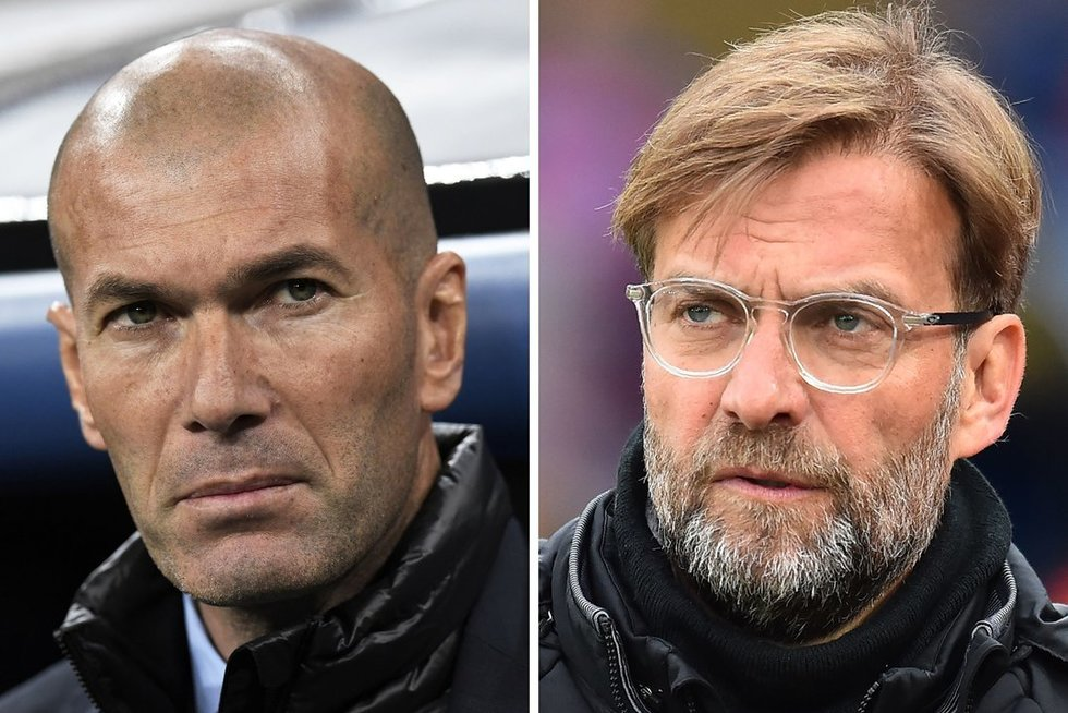 Zinedine'as Zidane'as ir Jurgenas Kloppas (nuotr. SCANPIX)