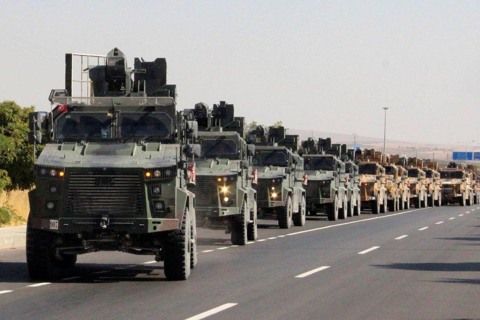 Turkija paskelbė karių veiksmų Sirijoje pradžią (nuotr. SCANPIX)