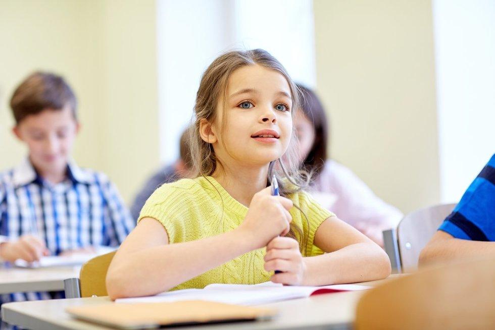 Vaikas mokykloje (nuotr. 123rf.com)