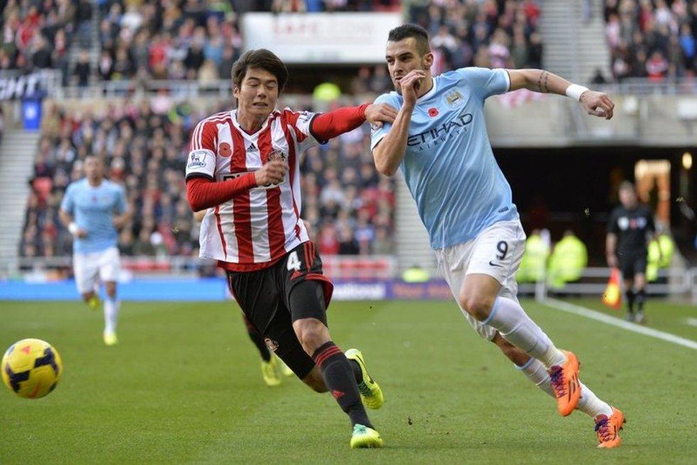 """""""Sunderland"""" – """"Manchester City"""" dvikova (nuotr. Alloverpress.ee)"""