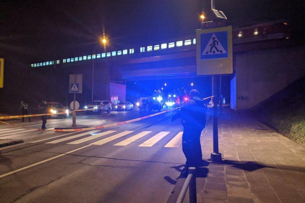 Vilniuje automobilis partrenkė žmogų (nuotr. Broniaus Jablonsko)
