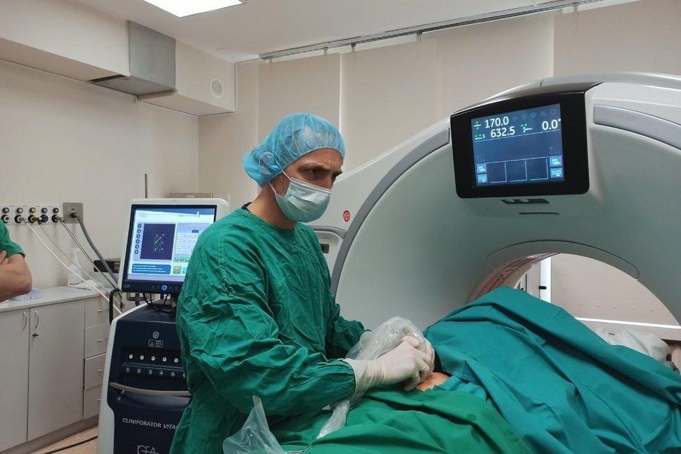 Pritaikyta moderni technologija suteikė viltį pasveikti (nuotr. NVI radiologas dr. Mantas Trakymas)