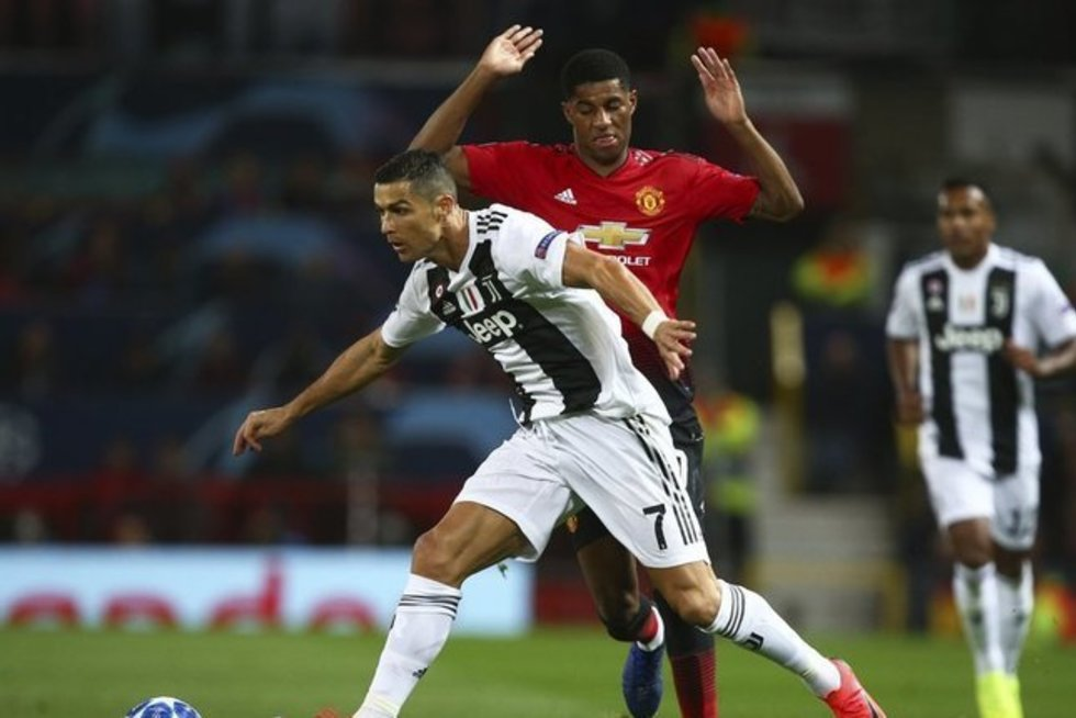 M. Rashfordas ir C. Ronaldo (nuotr. SCANPIX)