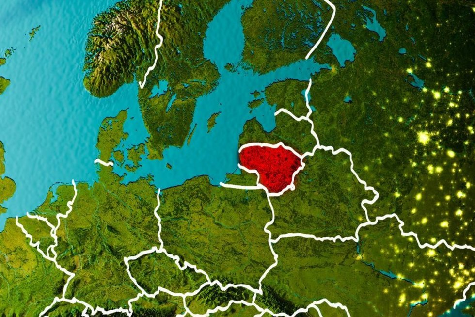 Lietuva Europoje (nuotr. 123rf.com)